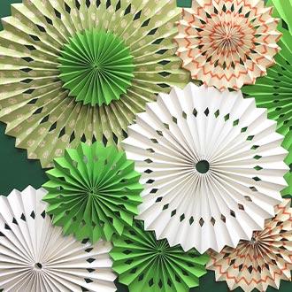 Rosetones decorativos color verde